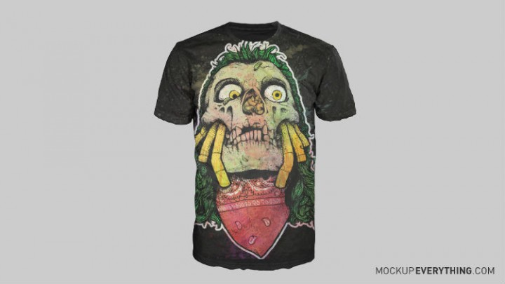 free t-shirt design mockup templates 4