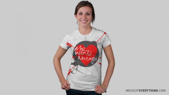 free t-shirt design mockup templates 5