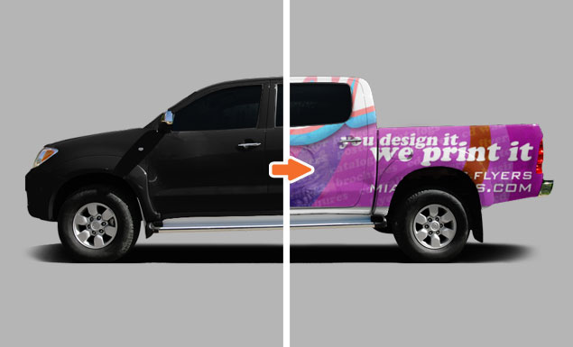 mockup templates for portfolio pickup truck before and after go