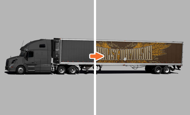 mockup templates for portfolio semi truck before and after go