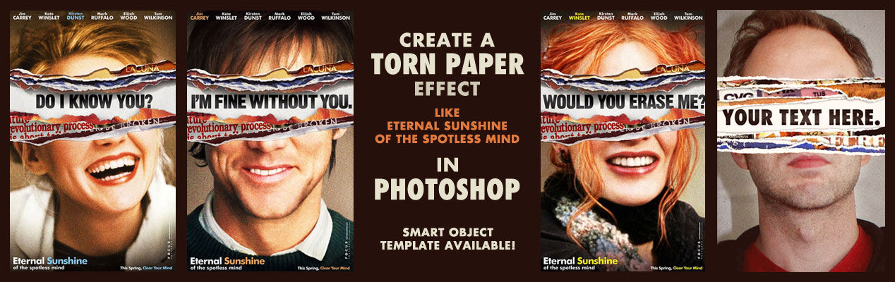 Create a Torn Paper Effect like Eternal Sunshine Movie Poster