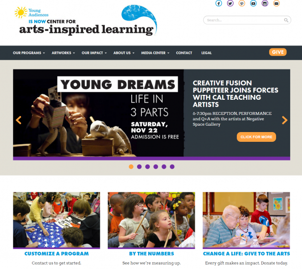 Center for Arts Inspired Learning   Arts Education Programming