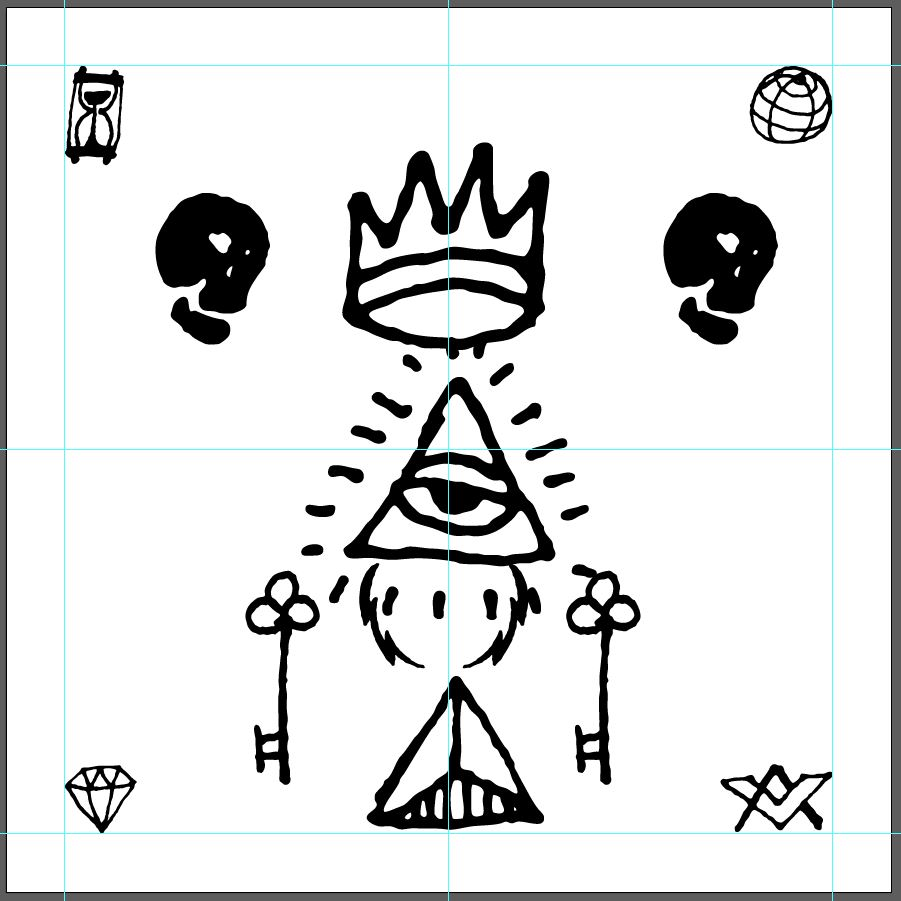 Create a cool occult LP design with the occult symbols collection!