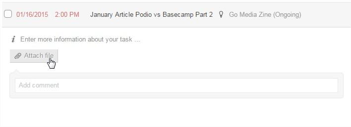 Basecamp vs Podio - Podio Attach Files to Task