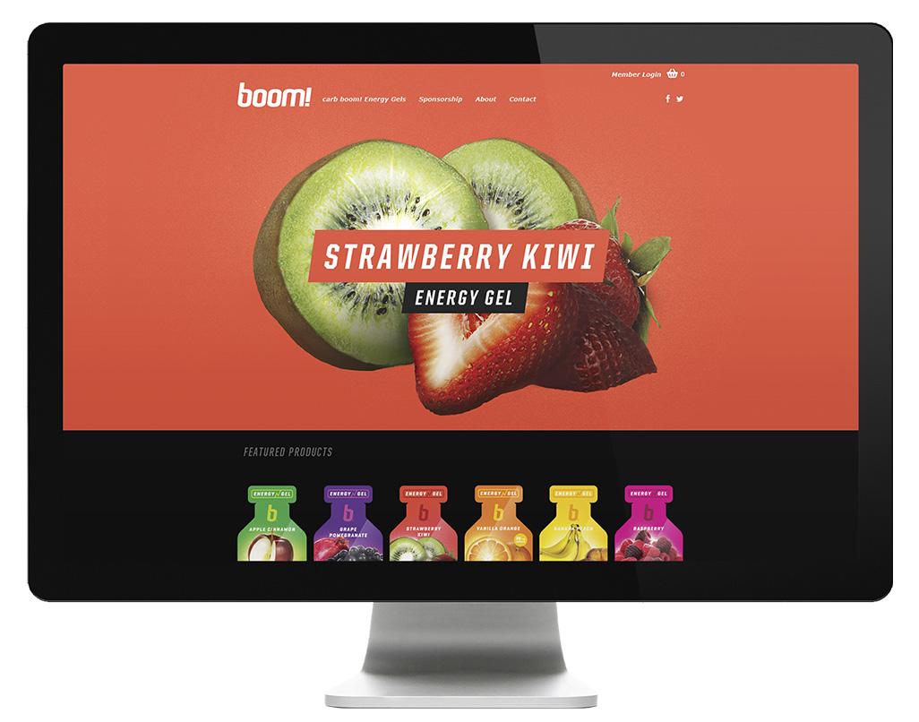 Boom Energy Gel Website - Cleveland Web Design by Go Media