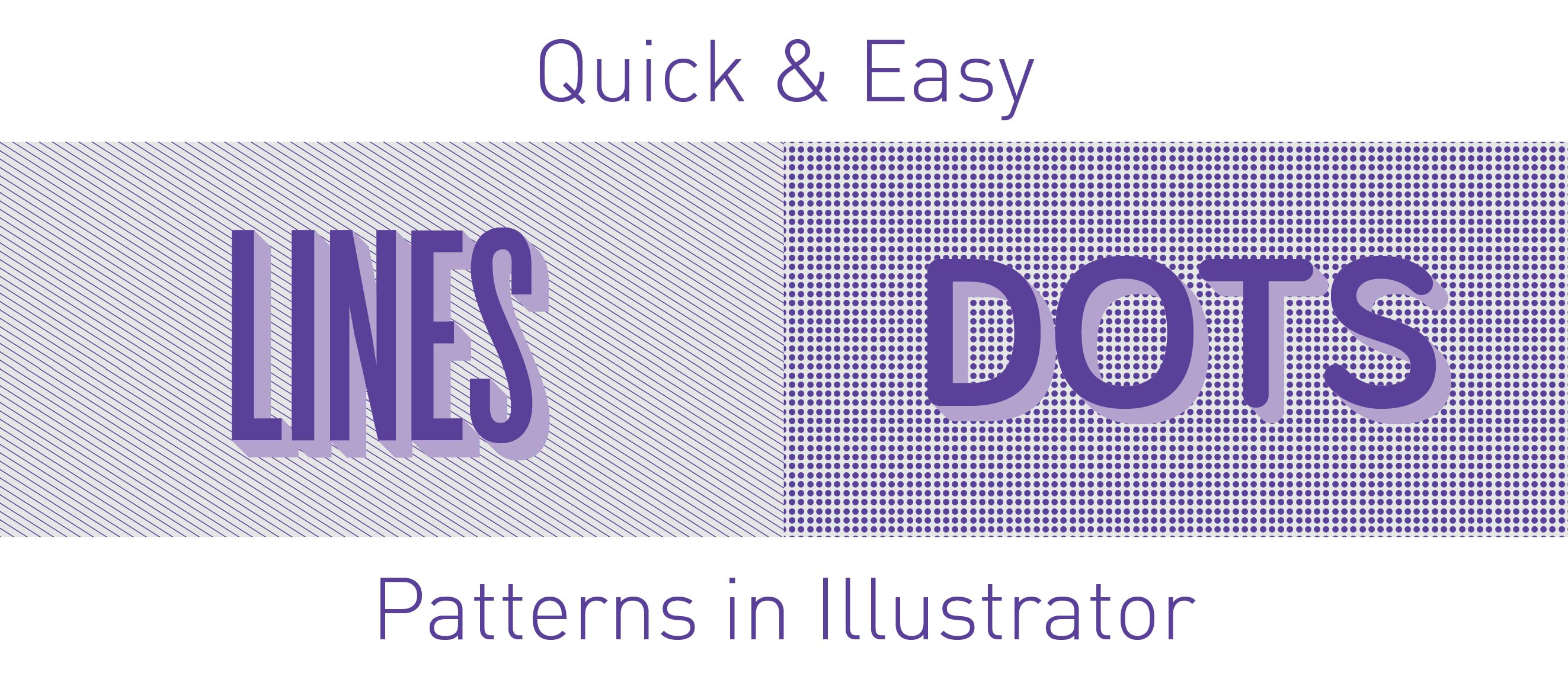 How to make patterns in Illustrator - lines & dots