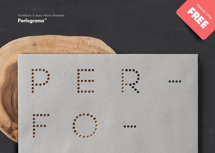 Perfograma free font Fontfabric™