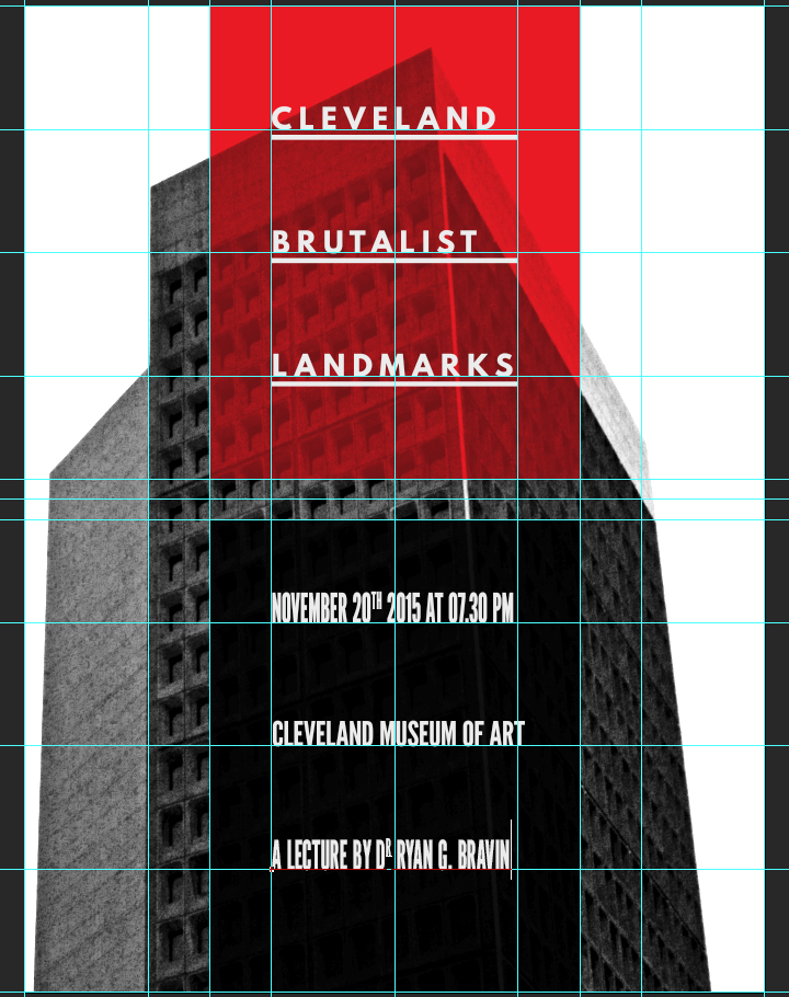 Building a brutalist conference poster with Jason Carne's texture lot one