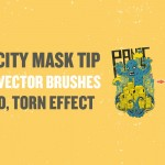 Try this Opacity Mask Tip with your New Vector Brushes for a Tattered, Torn Effect