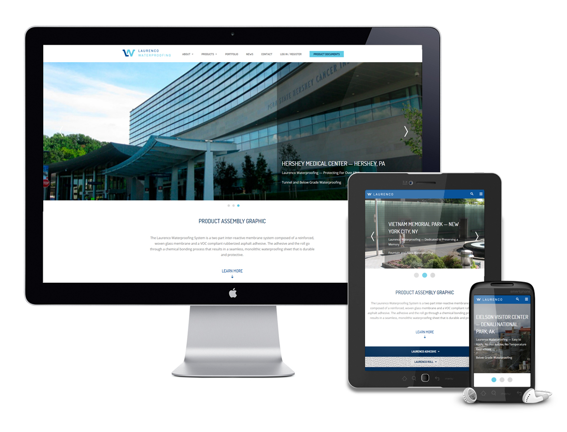 Laurenco Waterproofing Responsive Web Design