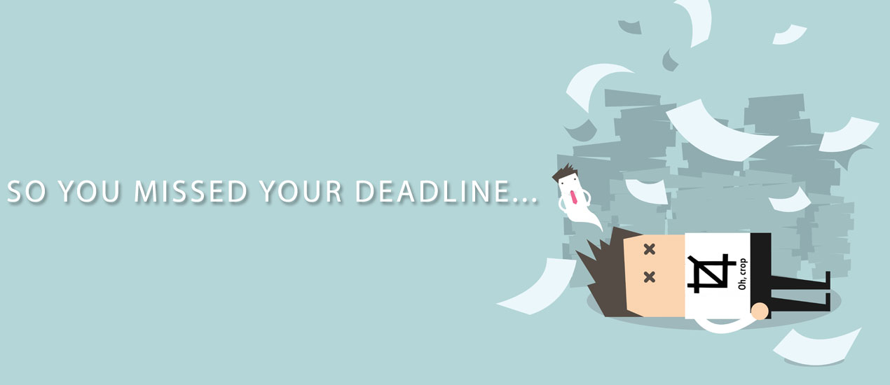 what to do if you missed a graphic design deadline
