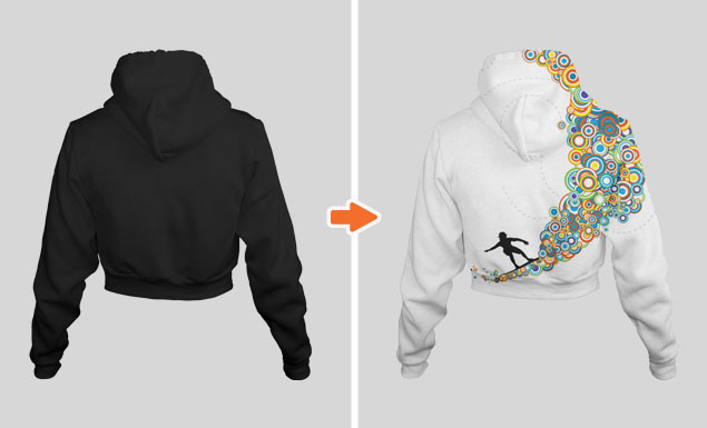 Ladies_Cropped_Zip_Hoodie_Ghosted_Back_View_1_Arsenal_Preview