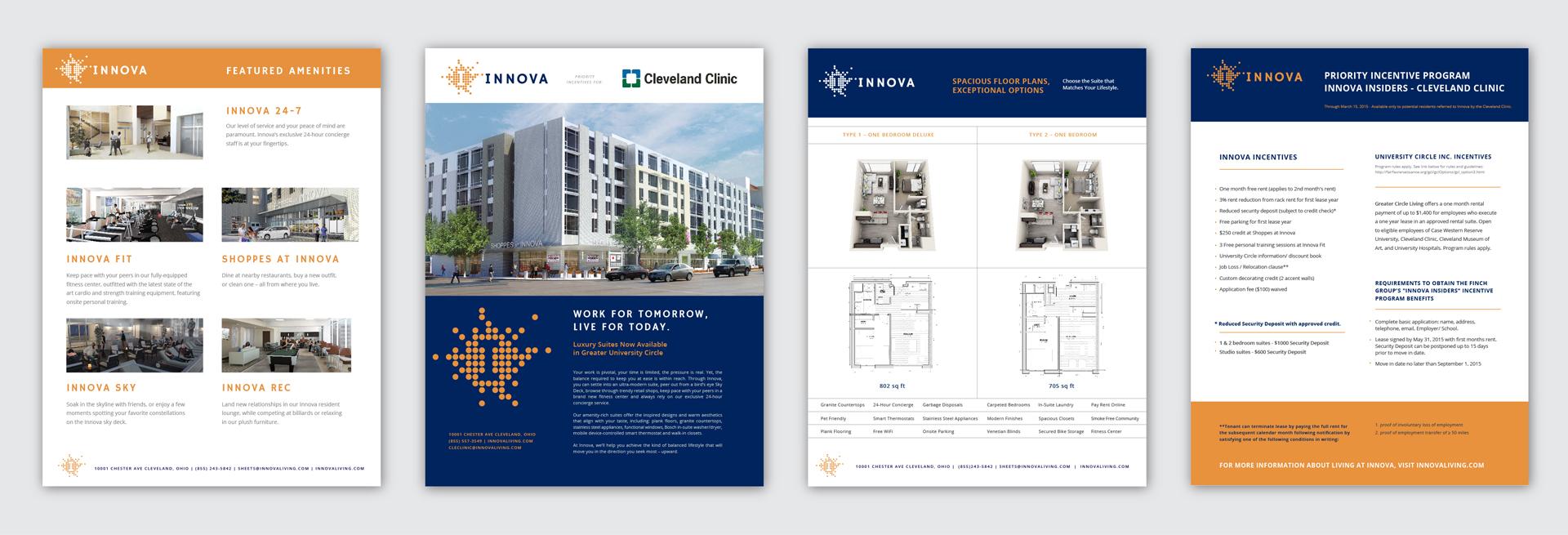 Innova Sell Sheet Designs