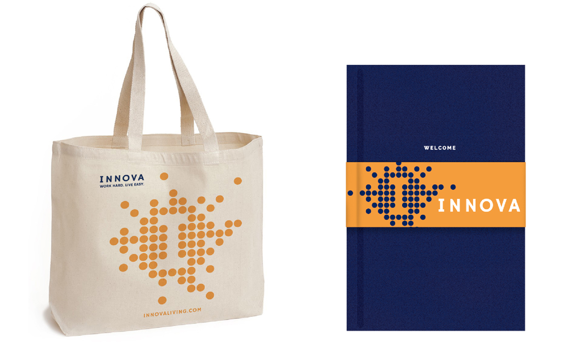Innova Tote bag design and welcome book