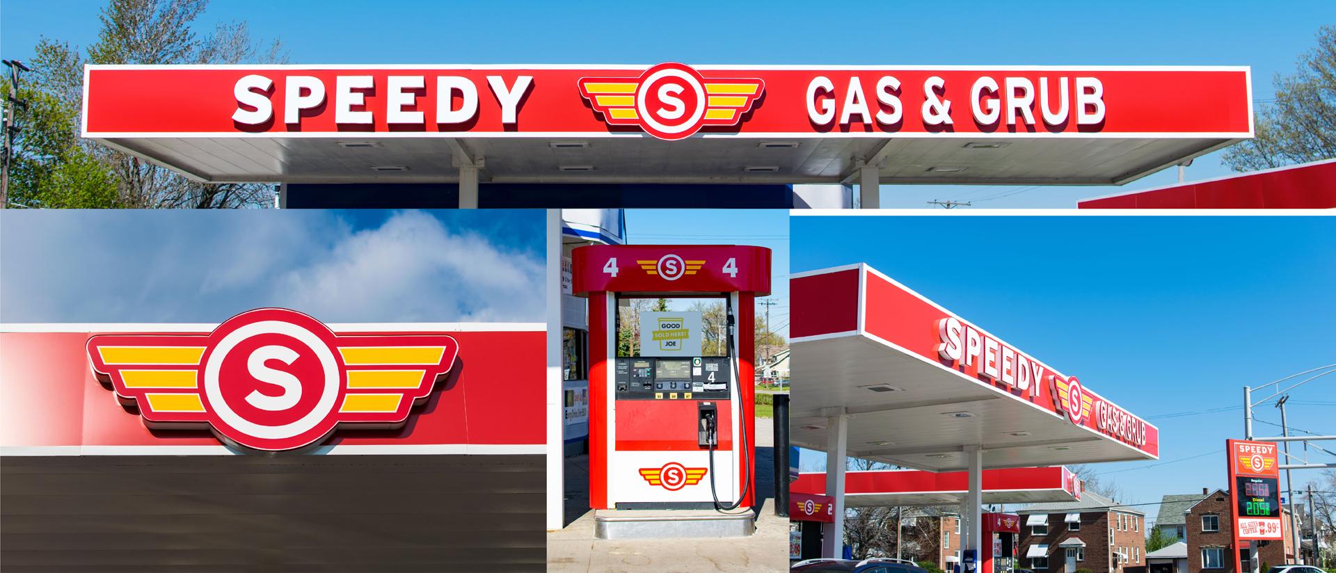 Speedy Gas Graphic Design Branding Real World In Progress