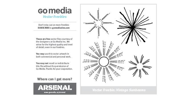 free vintage sunbeam vectors