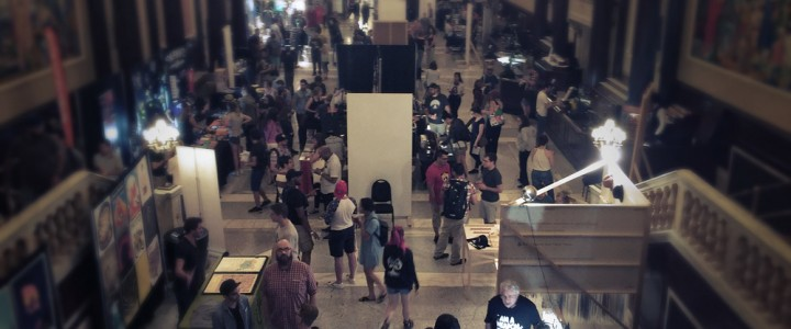 The Dropbox Vendor Village, located in the lobby of the State Theatre.