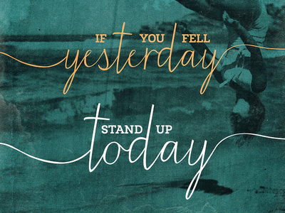 If you fell yesterday, stand up today by Simon Birky Hartmann