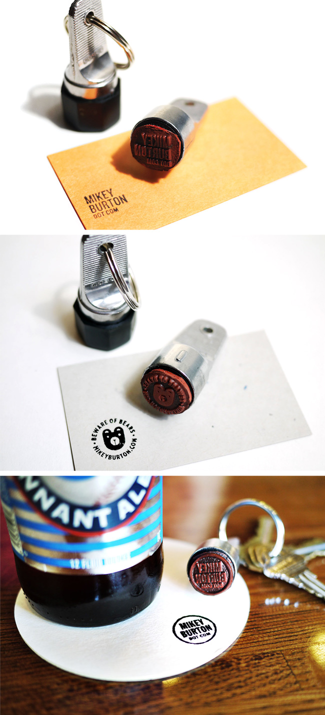 Custom Ring Stamp Card by Mikey Burton
