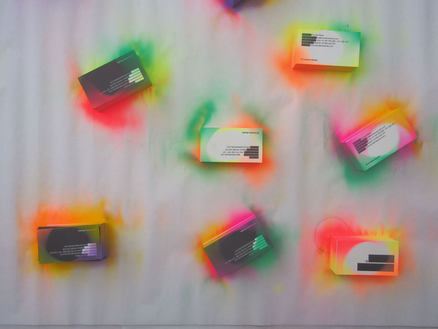 Spray Painted Business Cards by IS Creative Studio