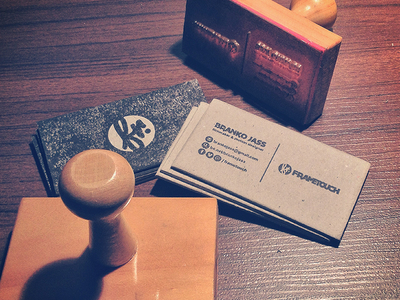 Handmade business cards by frametouch