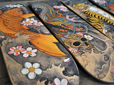 Custom Skateboards by Juan Arias