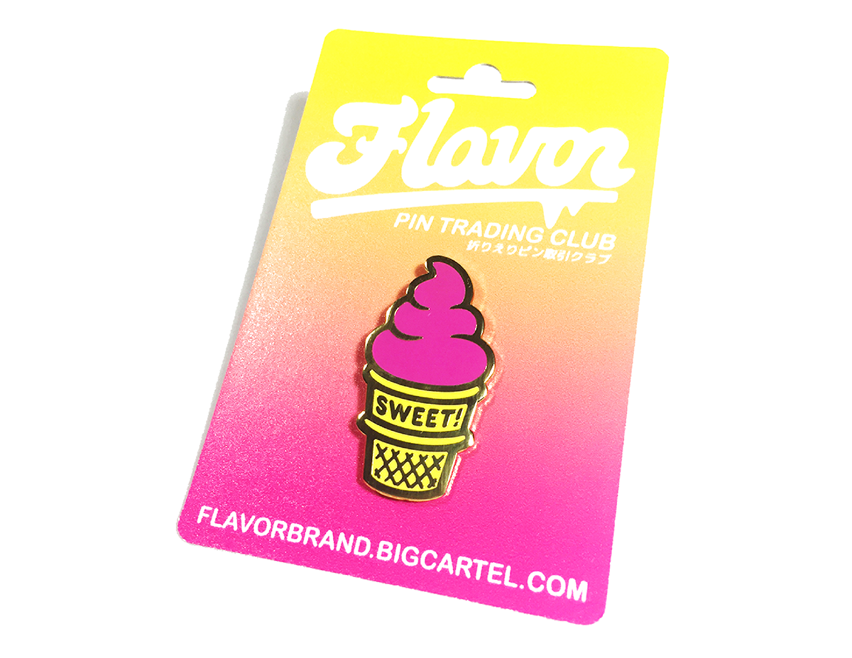 Flavor Pin Trading Club #1 - SWEET! Ice Cream Lapel Pin by Nick Williams