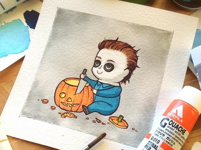 Michael Myers Halloween Print by Michelle Coffee