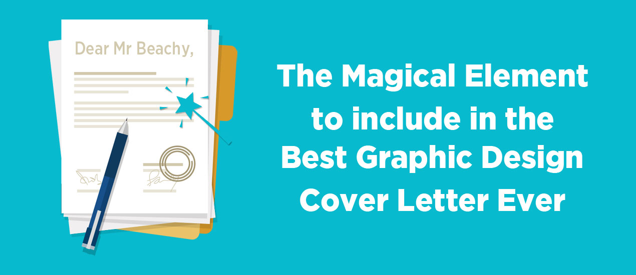 to write the best graphic design cover letter