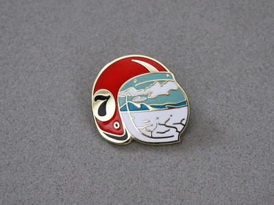 Salt Flats Enamel Pin by Amy Hood for Hoodzpah