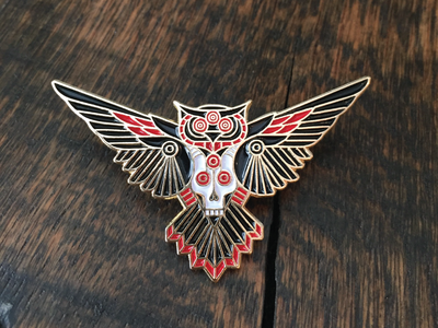 Owl & Goat pin by Brian Steely