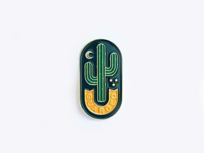 Guarded Enamel Pin by Lauren Dickens