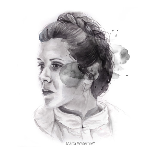 Princess Leia by Marta Waterme