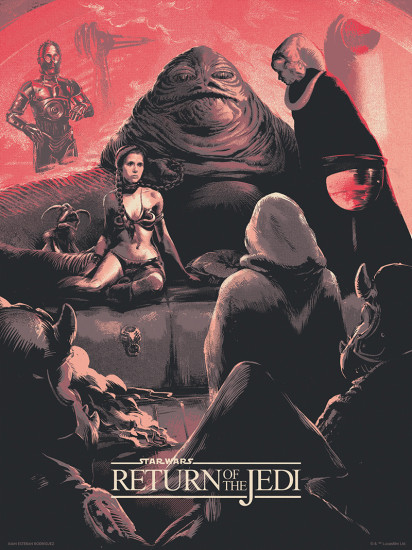 Star Wars Poster (Return of the Jedi) by Juan Esteban Rodríguez