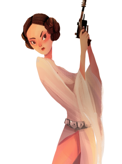 Princess Leia by Crystal Kung