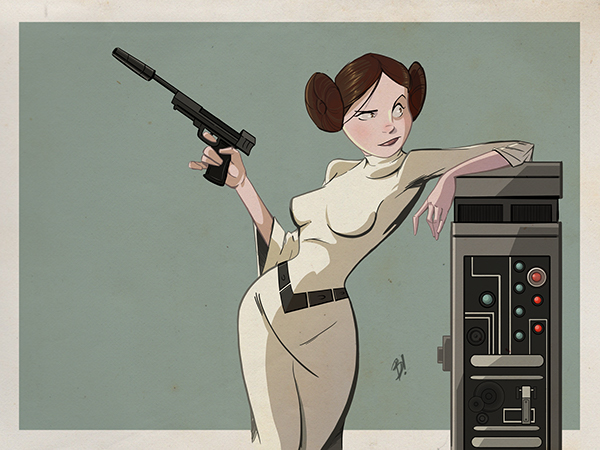 Princess Leia by Dave Bardin