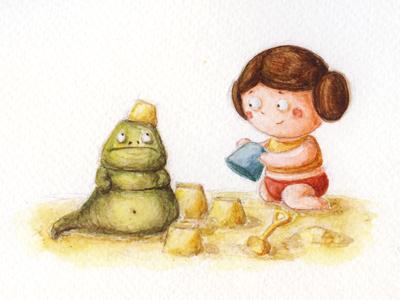 Лея и Джабба by by Natalia Dekalo