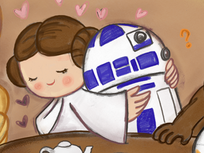 A litttle princess leia love by Angie Jones