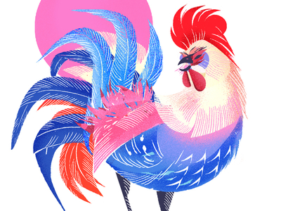 Happy Rooster Year! by Jenn Liv