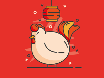 Happy Chinese New Year - Rooster by Antonius Setiadi K