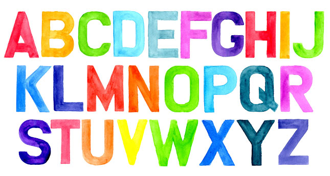 Introducing our Watercolor Alphabet Font