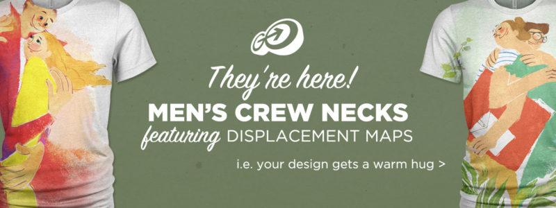 Men's Crew Neck PSD Mockups