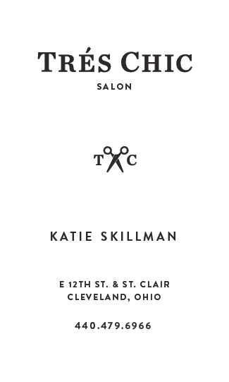 Tres Chic_Business Card B