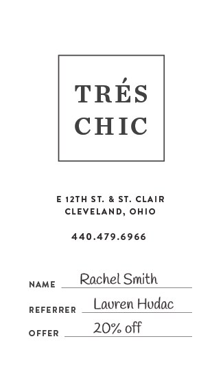 Tres Chic_Business Card C