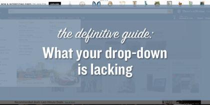 How to Improve Your Drop-Down Menu