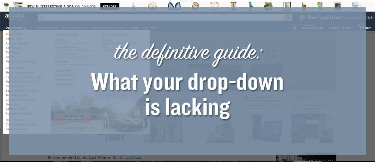 How to Improve Your Drop-Down Menu