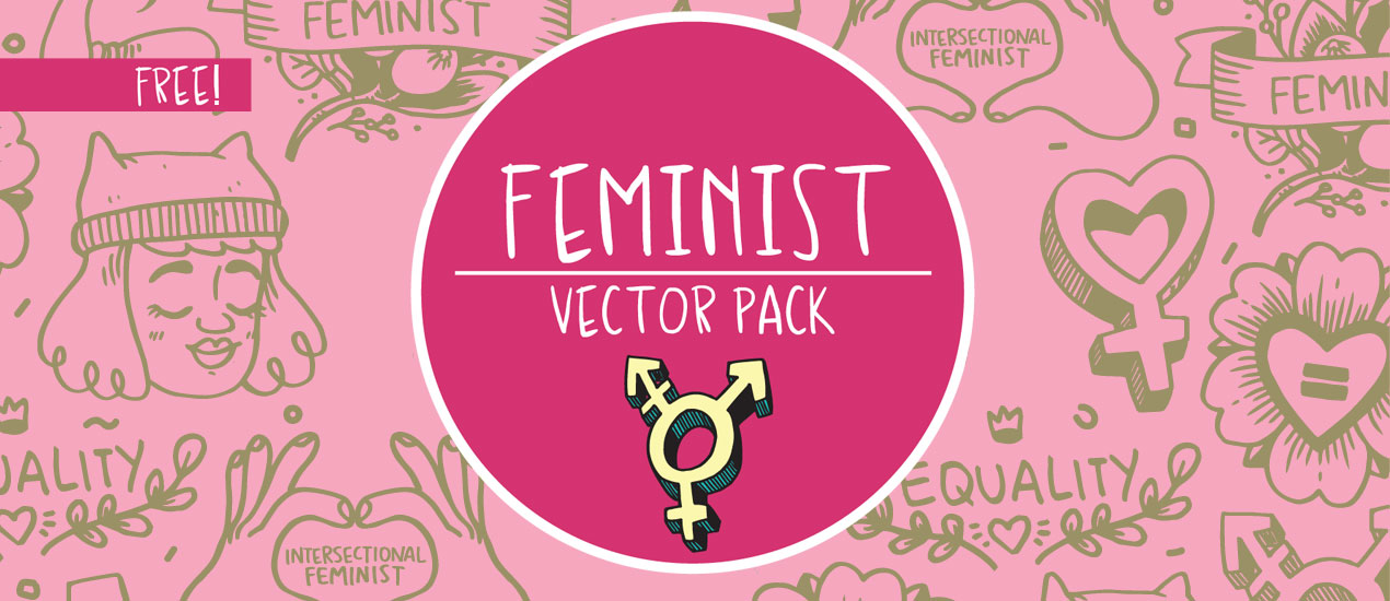 Free Feminist Vector Pack on Go Media's Zine by Shelby Criswell