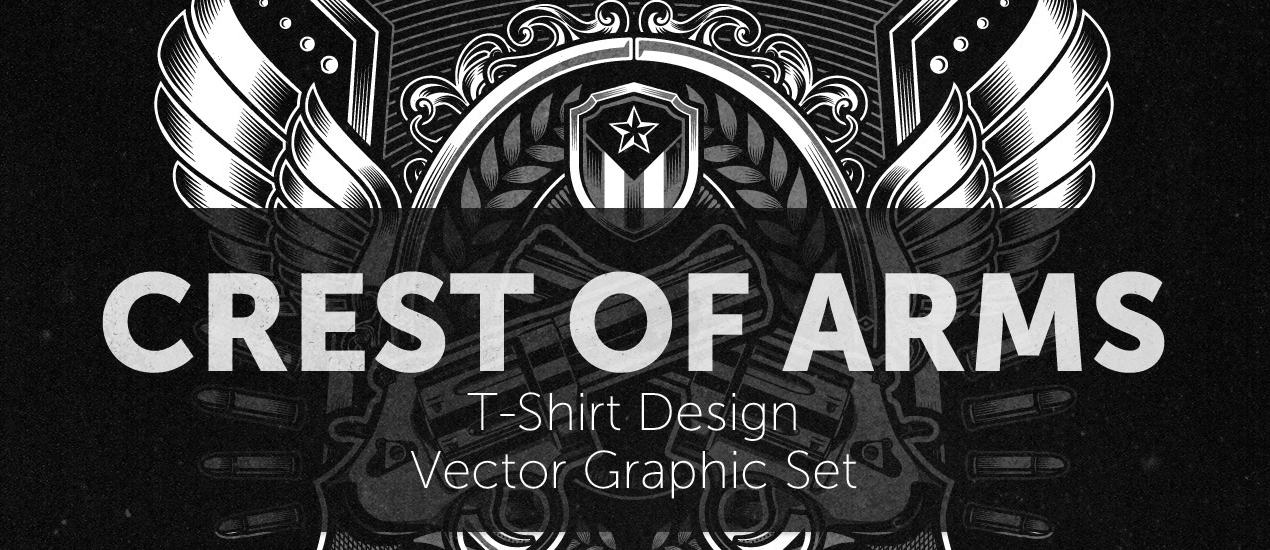 Poster Design Ideas: How to easily create a record release promo poster with the Arsenal's Crest of Arms vector pack