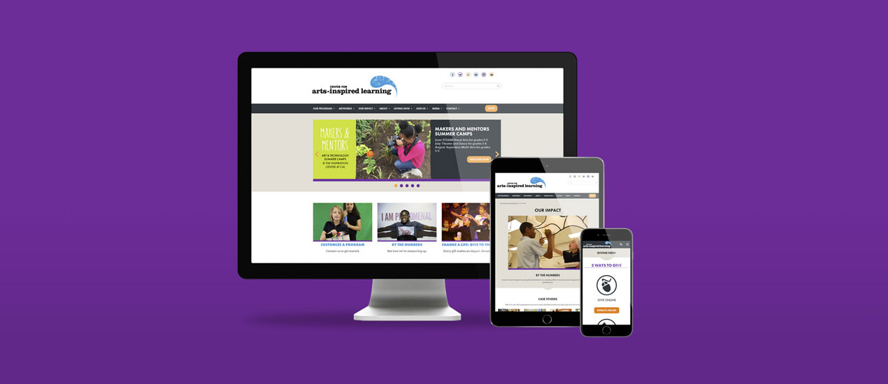 Center for Arts-Inspired Learning Non-Profit Website Design